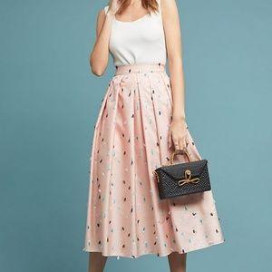 Thread Embellished Midi Skirt (NWT)